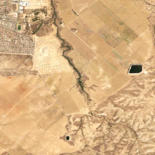 satellite view of the region around Khirbet Muleh