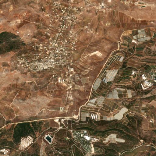 satellite view of the region around Tell el Khirbeh
