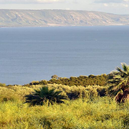 panorama of the Sea of Galilee