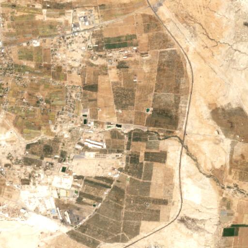 satellite view of the region around Ain el Gharabeh