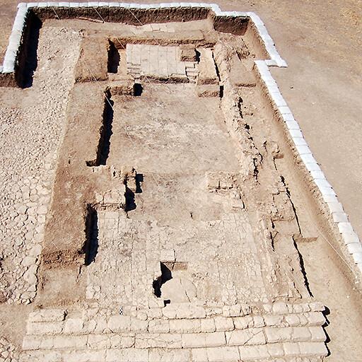aerial panorama of ruins at Tell Tayinat