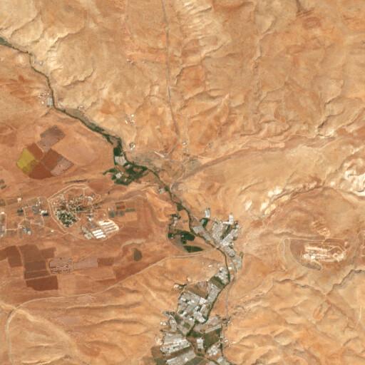 satellite view of the region around Khirbet Marah el Inab
