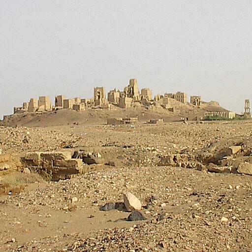 panorama of ruins at Old Ma'rib in Sheba