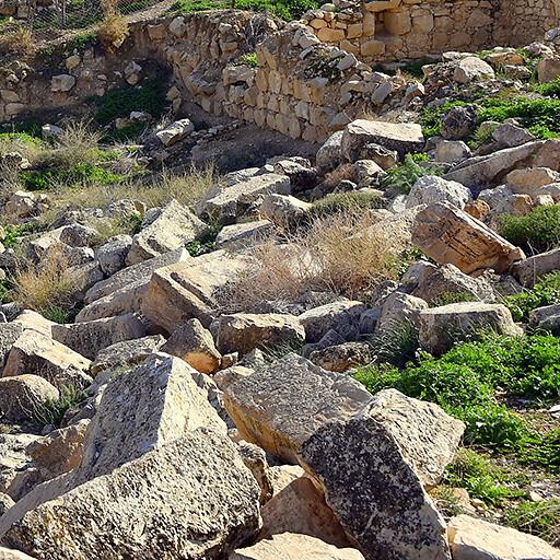 panorama of ruins at Rujm Siyaghah