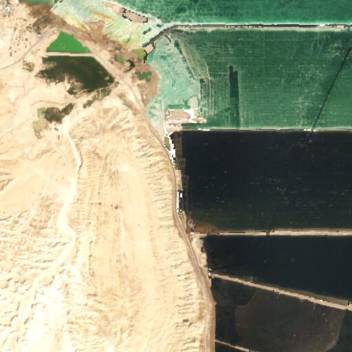 satellite view of the region around Mezad Gozal