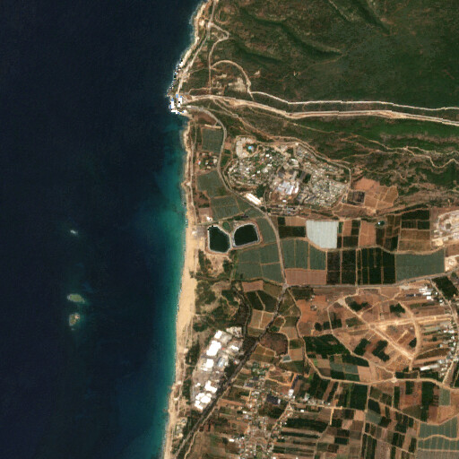satellite view of the region around Ain Mesherfi