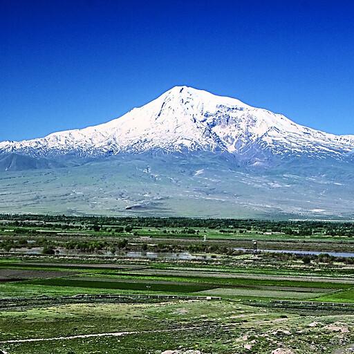 panorama of Mount Ararat in Urartu