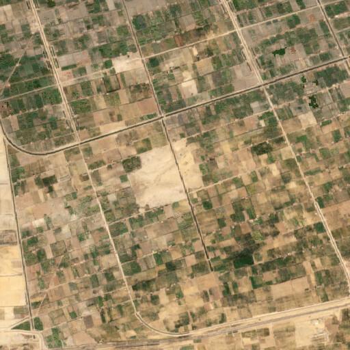 satellite view of the region around Tell el Borg