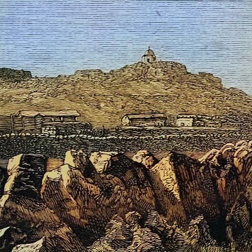 historical cityscape illustration of Al Shaykh Saad