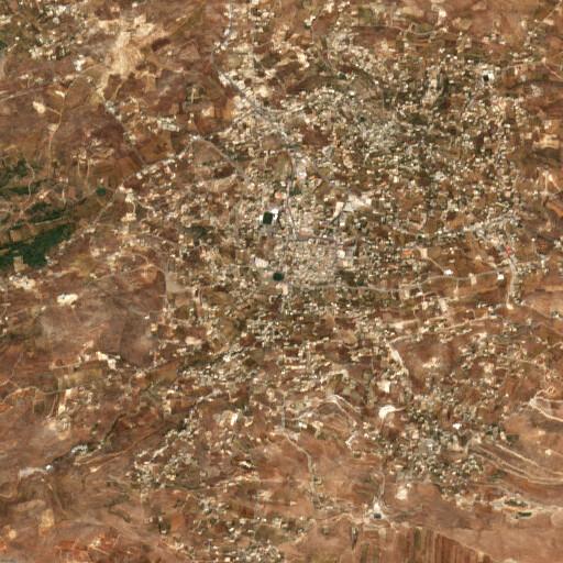 satellite view of the region around the Bint Jbeil water storage