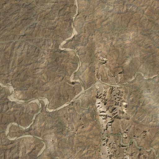 satellite view of the region around Wadi Bishah