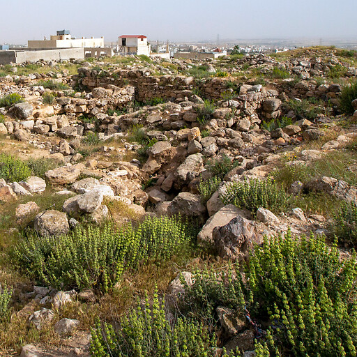 panorama of ruins at Tell Jawah