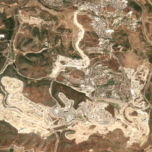 satellite view of the region around Khirbet el Alya