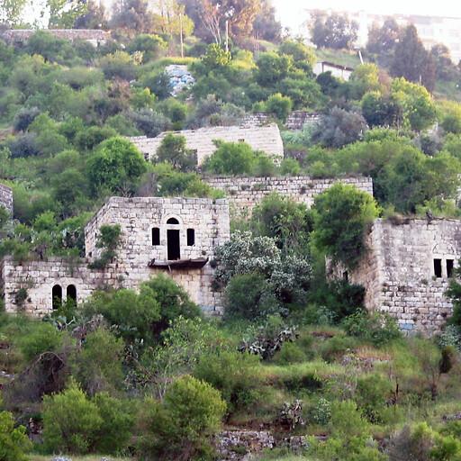 recent ruins at Lifta