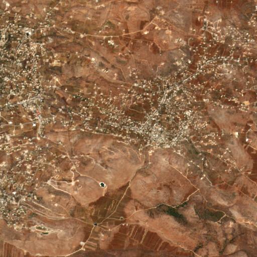 satellite view of the region around Aitaroun