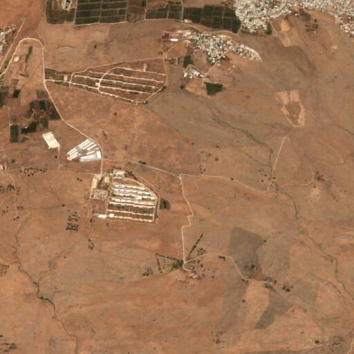 satellite view of the region around Hajar ed Damm
