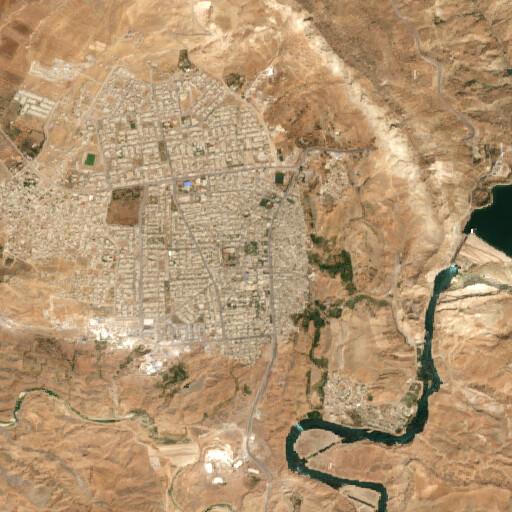 satellite view of the region around Til Assuri