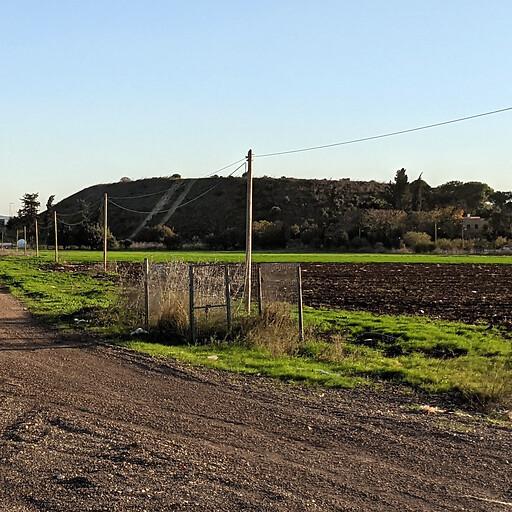 panorama looking south of Tell Bir el Gharbi