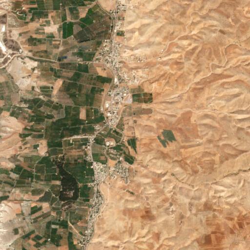 satellite view of the region around Tall al Meqbarah