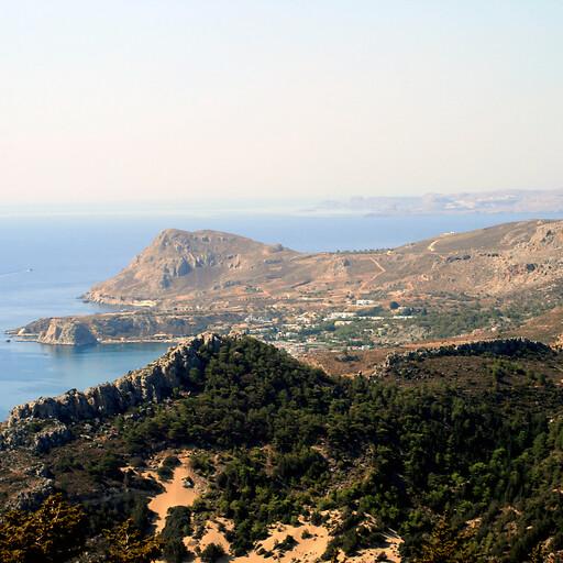 coastline of Rhodes