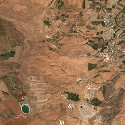 satellite view of the region around Khirbet ed Dir