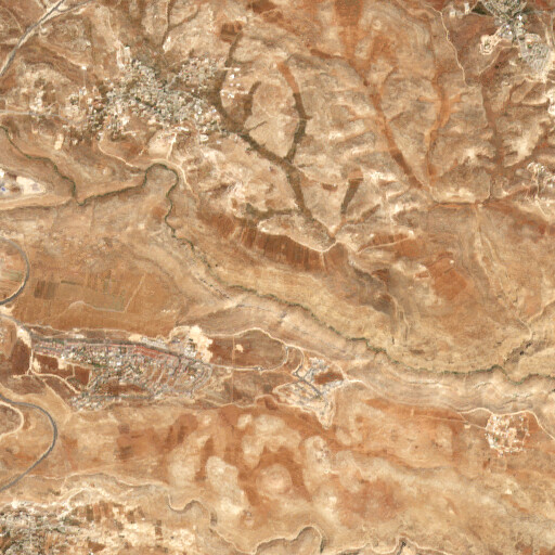 satellite view of the region around Bozez