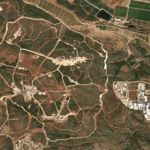 satellite view of the region around Horbat Timna