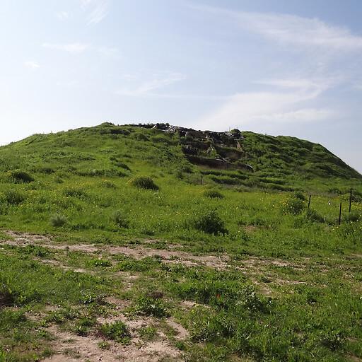 panorama of Tel Zayit