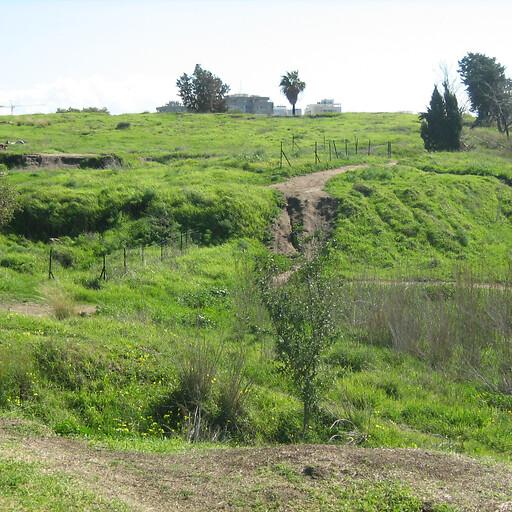 panorama of Tel Gerisa