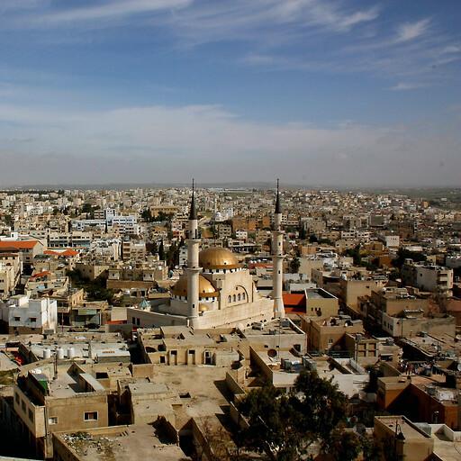 cityscape of Madaba on the Madaba Plateau