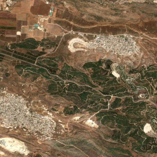 satellite view of the region around Rosh Zayit