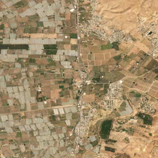 satellite view of the region around Tell Deir Alla