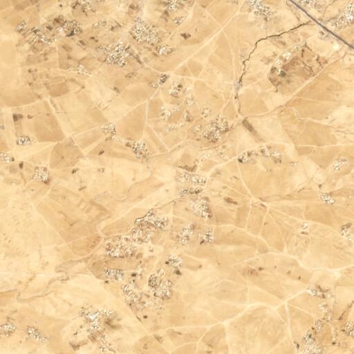 satellite view of the region around Khirbet el Waten