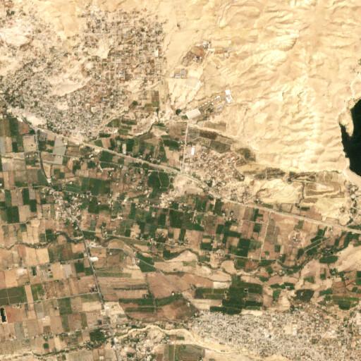 satellite view of the region around Tall Kafrayn