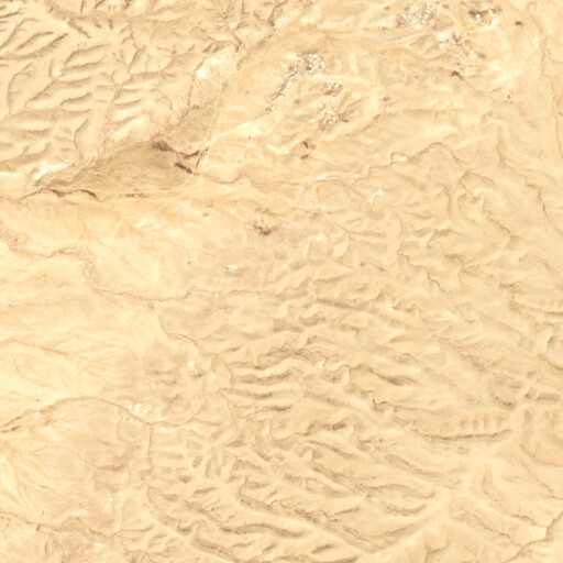 satellite view of the region around Umm el Azam