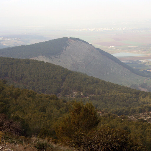 panorama of Mount Gilboa