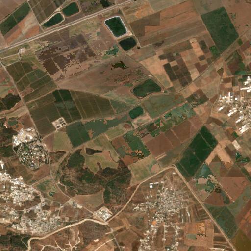 satellite view of the region around Tell Abu Qedeis