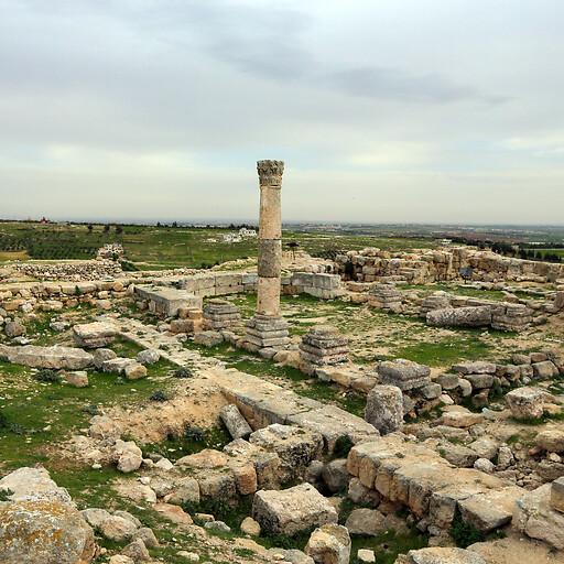 ruins at Tell Hesban