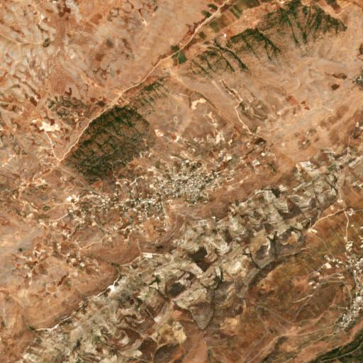 satellite view of the region around Labau