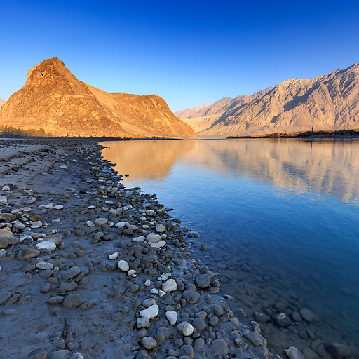 panorama of the Indus River