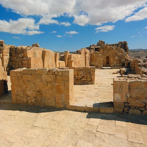 panorama of ruins at Shivta