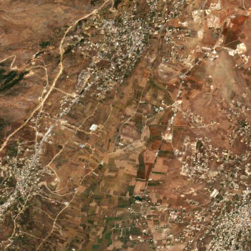 satellite view of the region around Tell Dibbine