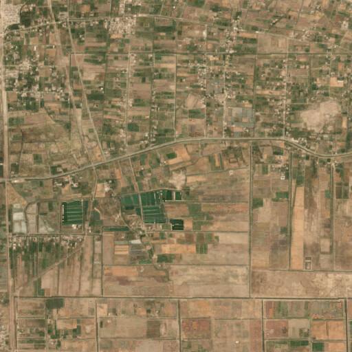 satellite view of the region around Tell Sheshubar