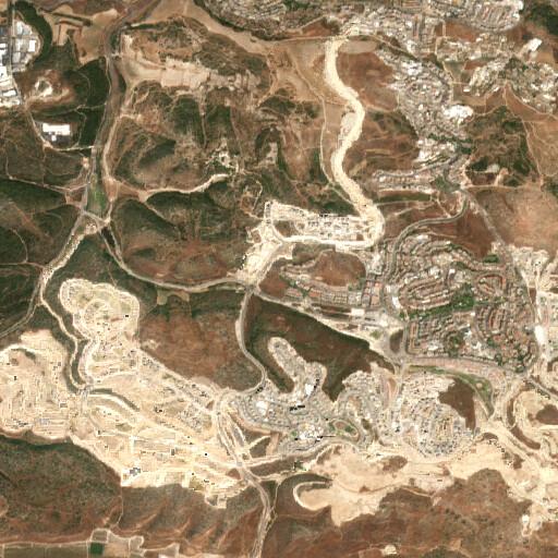 satellite view of the region around Khirbet en Nabi Bulus