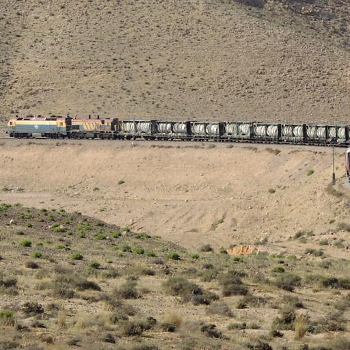 freight train along Wadi Fai