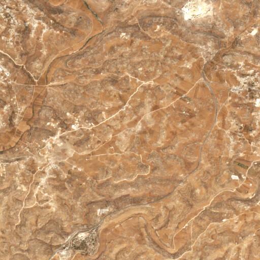 satellite view of the region around Khirbet Deir esh Shams