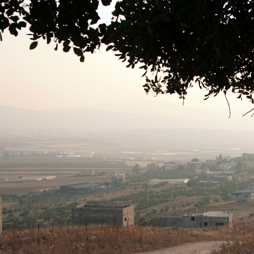 panorama of a region in the southern Jezreel Valley