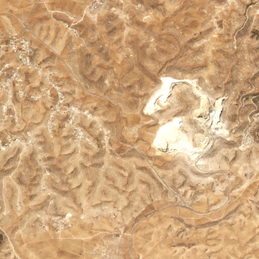 satellite view of the region around Khirbet Umm ed Demineh