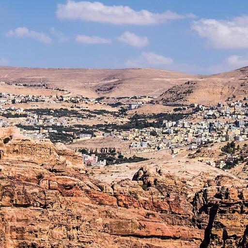 panorama of a natural area in Arabia Petraea