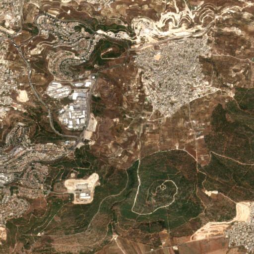 satellite view of the region around Ayun esh Sha'in